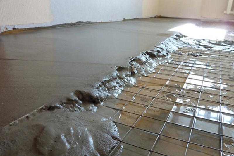 стяжка из цементного раствора армированная